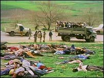 Bodies line the ground following the gassing of Halabja