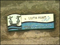 Leith Fort sign
