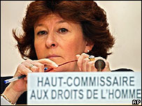 Louise Arbour, alta comisionada de Naciones Unidas para los Derechos Humanos.