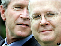 George W Bush with Karl Rove