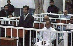 Saddam Hussein in court