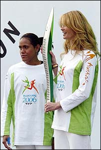 Cathy Freeman and Elle McPherson