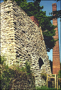 The limeworks and kiln - picture courtesy of Llanymynech Heritage Focus Group