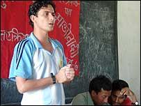 Maoist address in a school