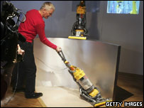 James Dyson demonstrates the Dyson CD15 The Ball