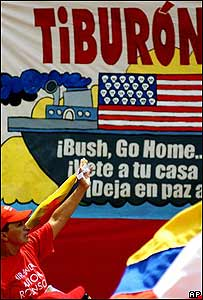 Marcha antiestadounidense en Caracas