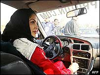 Laleh Seddigh behind the wheel
