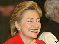 New York Senator Hillary Clinton