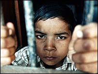 Child behind bars in Indian prison