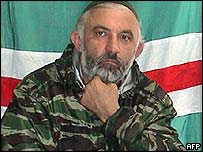 File photograph of Aslan Maskhadov