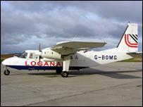 Loganair Islander air ambulance