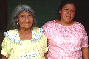 Maria Ciriaca Marroquin (right) with her mother