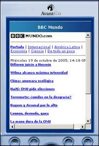Titulares de BBCMundo.com vía email