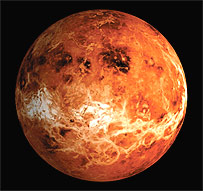 Venus, as mapped by the US Magellan spacecraft, Nasa