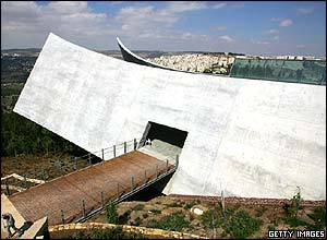 Outside view of the Yad Vashem Museum
