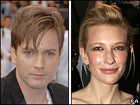 Ewan McGregor and Cate Blanchett