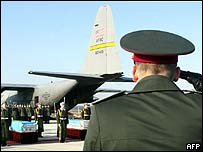 Remains of Ukrainians killed in Iraq returned to Kiev airport