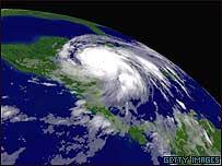 Imagen satelital de Wilma.