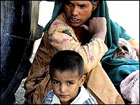 Earthquake victims in Pakistan-administered Kashmir