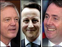 The three Tory candidates