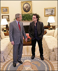 Bono and President Bush - White House photo