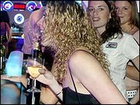 Drinkers in nightclub