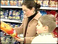 Consumers in a supermarket
