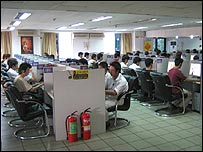 Image of a net cafe in China