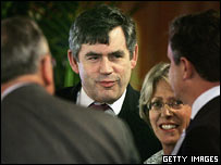 Gordon Brown at London climate conference (Getty Images)