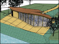 An artist's impression of the bird hide