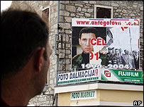 Poster of Gen Ante Gotovina in Croatian town of Vodice