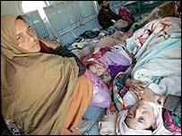 Kashmiri women airlifted to Muzaffarabad from a remote village