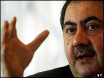 Iraq's Foreign Minister Hoshyar Zebari (file photo)