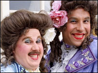 Matt Lucas and David Walliams as 'ladies' in Little Britain