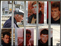 Pictures of missing in Pristina