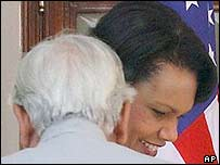Condoleezza Rice with Natwar Singh