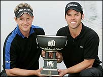 Luke Donald and Paul Casey with the 2004 World Cup