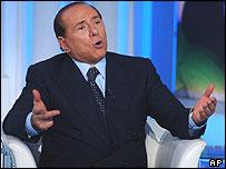 Silvio Berlusconi on television