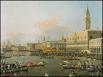 Canaletto's The View of the Molo, Venice