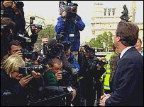 David Cameron, speaking to the media moments after the result was announced