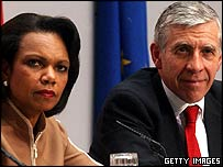 Condi Rice and Jack Straw