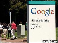 Google's headquarters at Mountain View, California