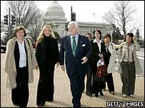 The McCartney sisters held talks with Senator Ted Kennedy