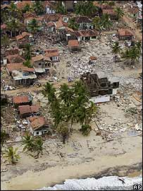 Hambantota after the tsunami struck