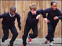 Niños en una escuela en Stockwell
