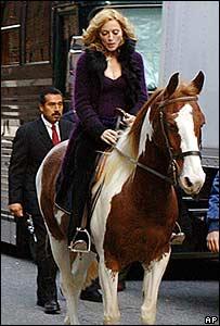 Madonna on horse