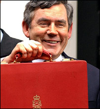 Gordon Brown with his red dispatch box