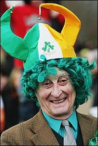 St Patrick's Day reveller