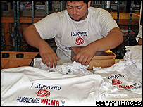 Vendor selling survivor tee-shirts