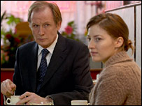 Bill Nighy and Kelly Macdonald in Girl in the Cafe